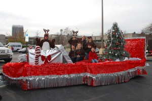 Parade Float with kids